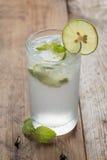 Cold fresh lemonade soda drink. Stock Images
