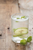 Cold fresh lime soda drink. Royalty Free Stock Photo