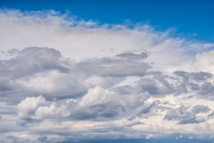 Cold front clouds full of rain stock photography