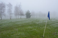 Cold and Frosty Golf Course Stock Images