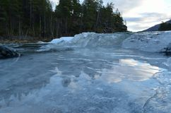 Cold frozen mountain creek Royalty Free Stock Images