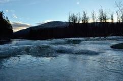 Cold frozen mountain creek Royalty Free Stock Photos
