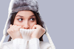It is so cold. Stock Photography