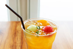 Cold fruit tea Stock Photography