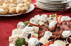 Cold garnished plate Royalty Free Stock Photo