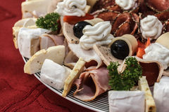 Cold garnished plate Royalty Free Stock Image