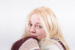 Cold girl Stock Photo