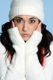 Cold Girl Royalty Free Stock Photography