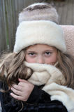 Cold girl Royalty Free Stock Image