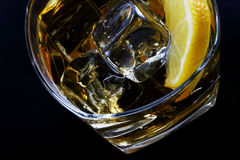 Cold glass of alcohol Royalty Free Stock Photos