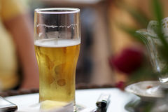 Cold glass of beer Royalty Free Stock Images