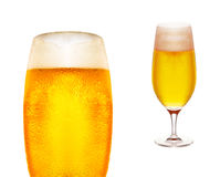 Cold glass of beer close up Royalty Free Stock Photos
