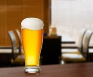 Cold glass with beer Royalty Free Stock Images