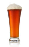 Cold glass of beer over white Royalty Free Stock Photo