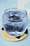 Cold Glass with Ice Water Royalty Free Stock Image