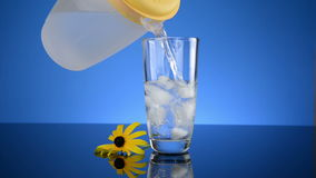 Cold Glass Ice Water stock footage