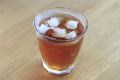 Cold glass of iced tea with ice Royalty Free Stock Photography