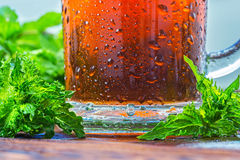 Cold glass of iced tea Royalty Free Stock Photos