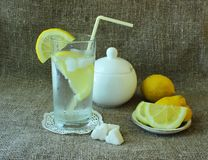 Cold glass of lemonade Stock Photography