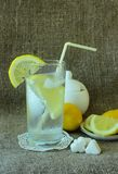 Cold glass of lemonade Stock Photos