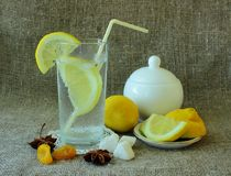 Cold glass of lemonade Royalty Free Stock Photo