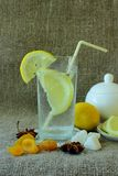 Cold glass of lemonade Royalty Free Stock Photography