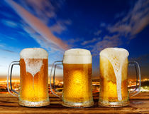 Cold glass mug of beer Royalty Free Stock Images