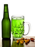 Cold green beer Royalty Free Stock Photo