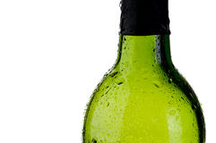 Cold green bottle  with copy space Royalty Free Stock Images
