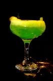 Cold green drink in transparent glass Royalty Free Stock Images