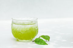 Cold green tea Royalty Free Stock Image