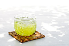 Cold green tea Stock Photo