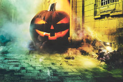 Cold Halloween night in the city Royalty Free Stock Images