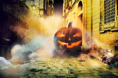 Cold Halloween night in the city Stock Photography