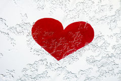 Cold heart. Heart in ice. Heart in the winter Stock Photos