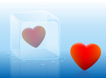 Cold Heart Ice Cube Royalty Free Stock Photos