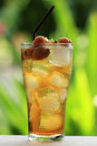 Cold herb drink. /Longan cold water royalty free stock images