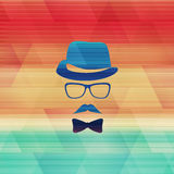 Cold hipster Royalty Free Stock Photography