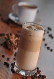 Cold ice coffee with chocolate. Cold fresh ice coffee with chocolate - close up Royalty Free Stock Image