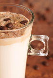 Cold ice coffee with chocolate. Cold fresh ice coffee with chocolate - close up Royalty Free Stock Photo