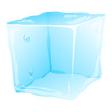Cold ice cube vector illustration