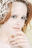 Cold ice princess Stock Photo