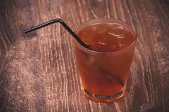 Cold ice tea in glass Stock Image
