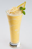 Ice blended banana smoothie frappe drink Royalty Free Stock Photos