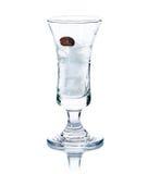 Cold iced drink med kaffebönor royaltyfria foton