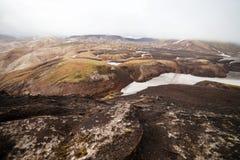 Cold Icelandic Landscape -  Laugavegur, Iceland. Cold Icelandic Landscape on the Laugavegur Trek Stock Photography