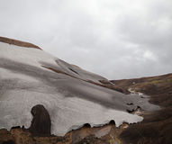 Cold Icelandic Landscape -  Laugavegur, Iceland Royalty Free Stock Photography