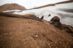 Cold Icelandic Landscape -  Laugavegur, Iceland Stock Photo