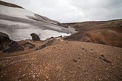 Cold Icelandic Landscape -  Laugavegur, Iceland Stock Photography