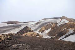 Cold Icelandic Landscape -  Laugavegur, Iceland. Cold Icelandic Landscape on the Laugavegur Trek Royalty Free Stock Image